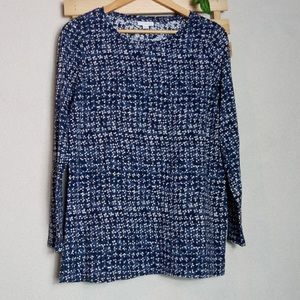 J. Jill Navy Blue Long Sleeve Shirt Medium
